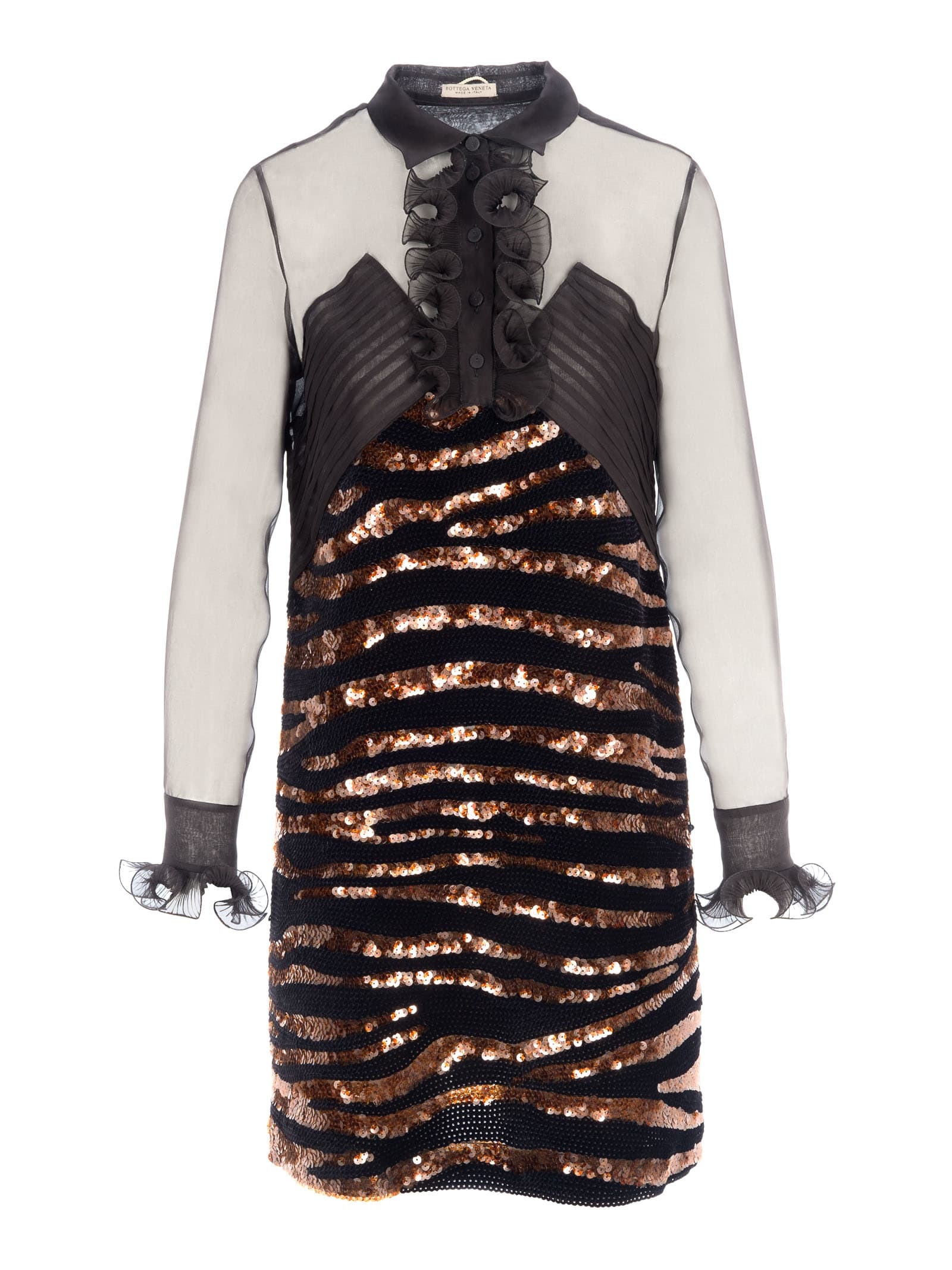 Photo of  Bottega Veneta Bottega Veneta Sequins Embellishment Dress- shop Bottega Veneta  online sales