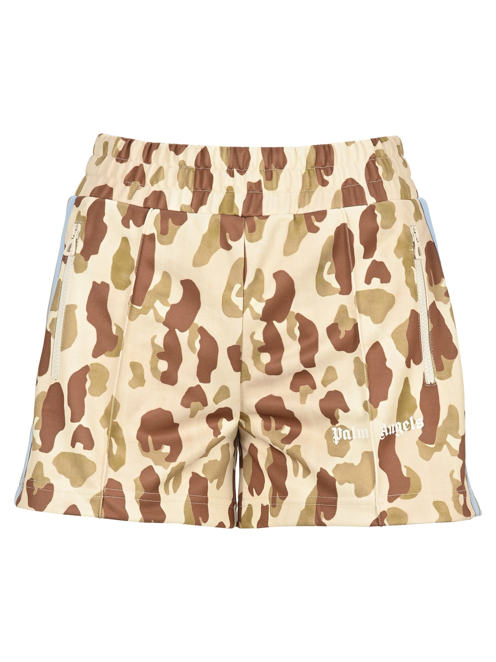 Palm Angels CAMOUFLAGE-PRINT TRACK SHORTS