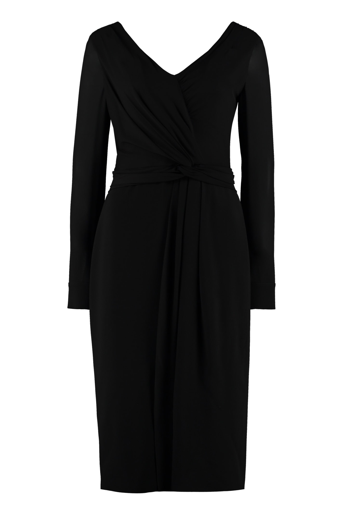 Max Mara Arad Draped Panels Layered Sheath Dress