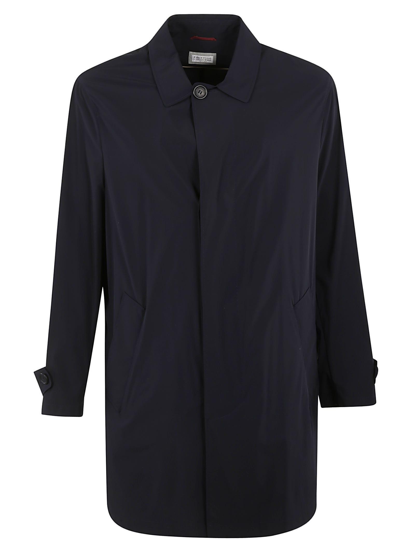 Brunello Cucinelli Single-breasted Classic Parka In Black