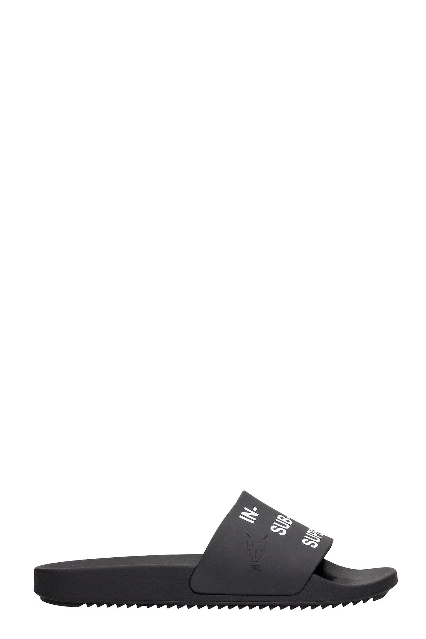 Flats In Black Rubber/plasic