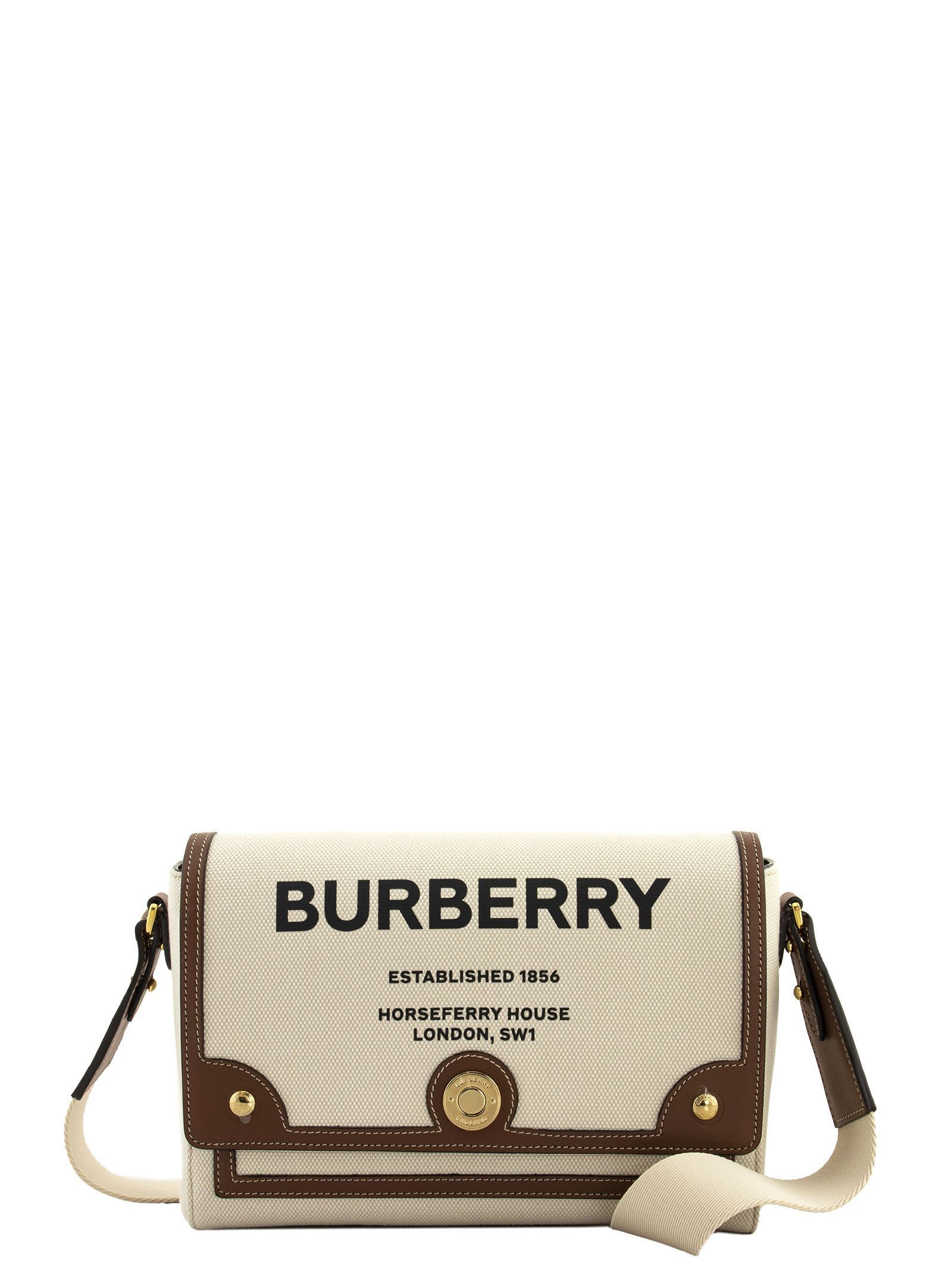 Burberry HORSEFERRY PRINT CANVAS NOTE CROSSBODY BAG MD NOTE