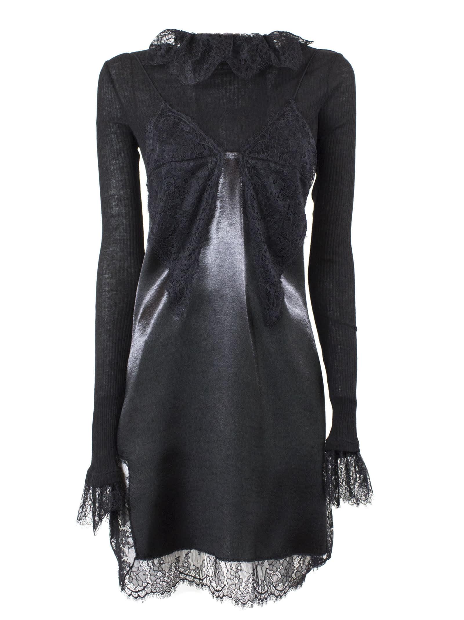 Philosophy di Lorenzo Serafini Black Lace Shift Dress