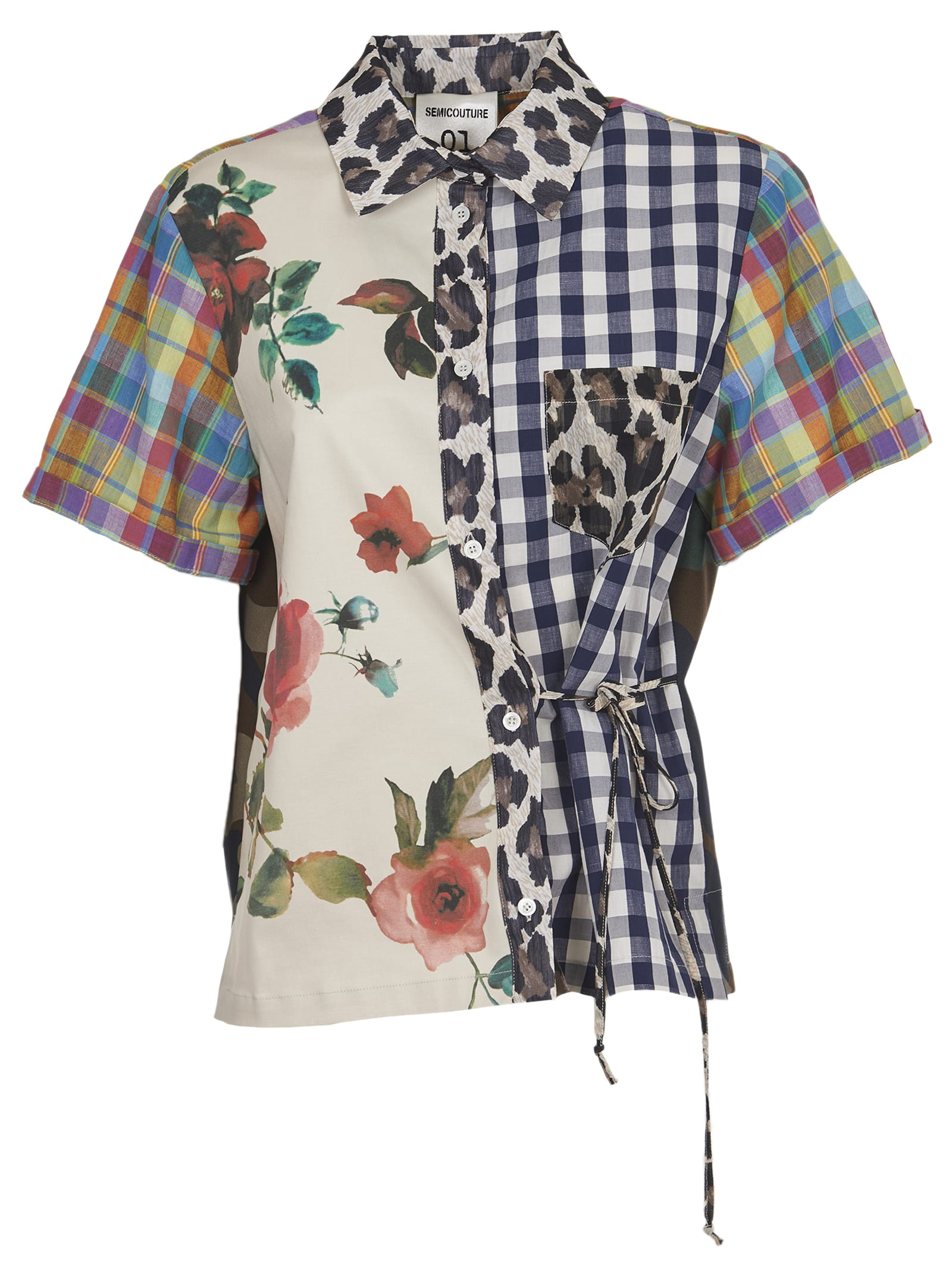 Semicouture Cottons PATCHWORK SHIRT