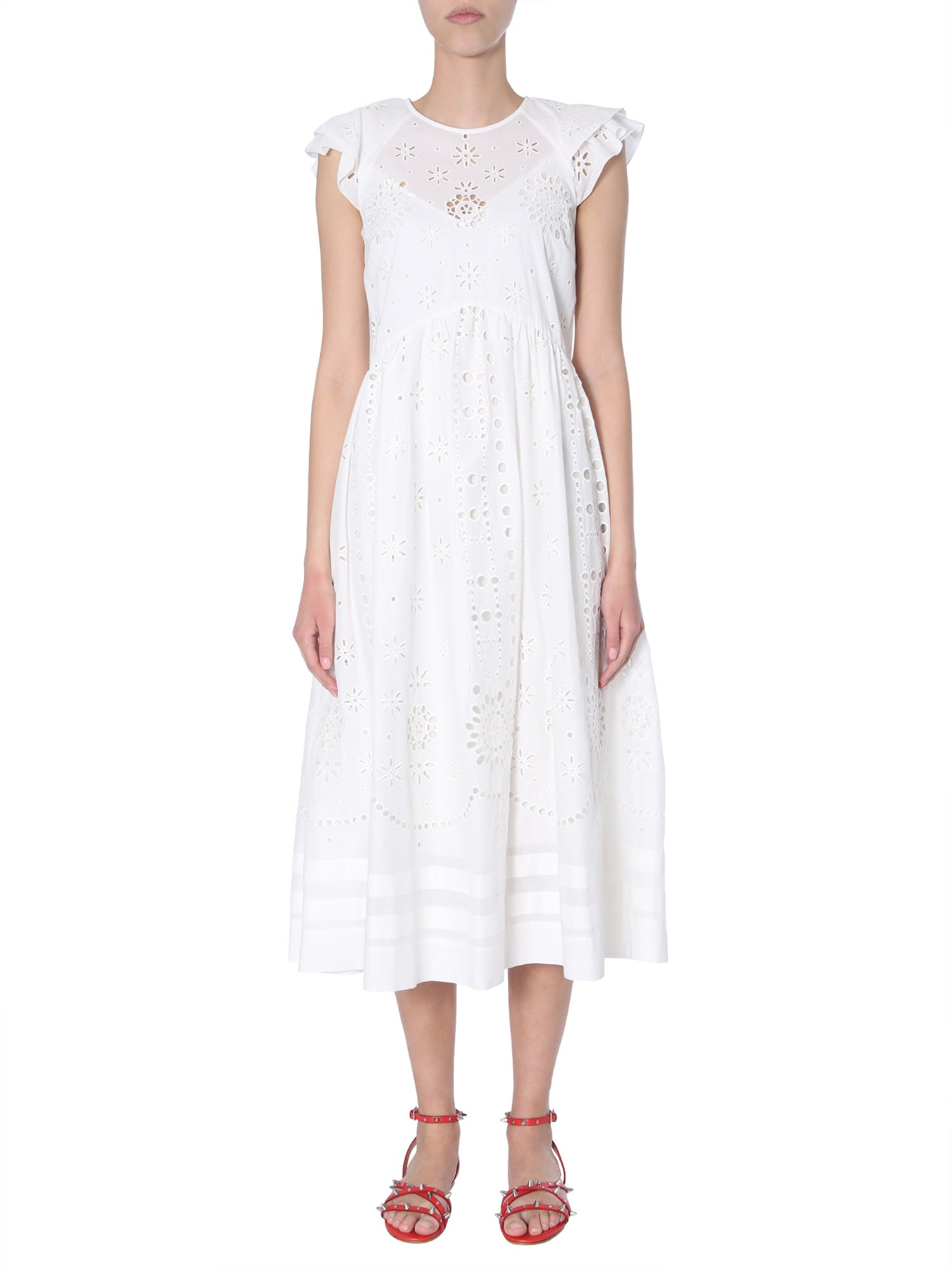 Buy RED Valentino Cotton Voile Dress online, shop RED Valentino with free shipping