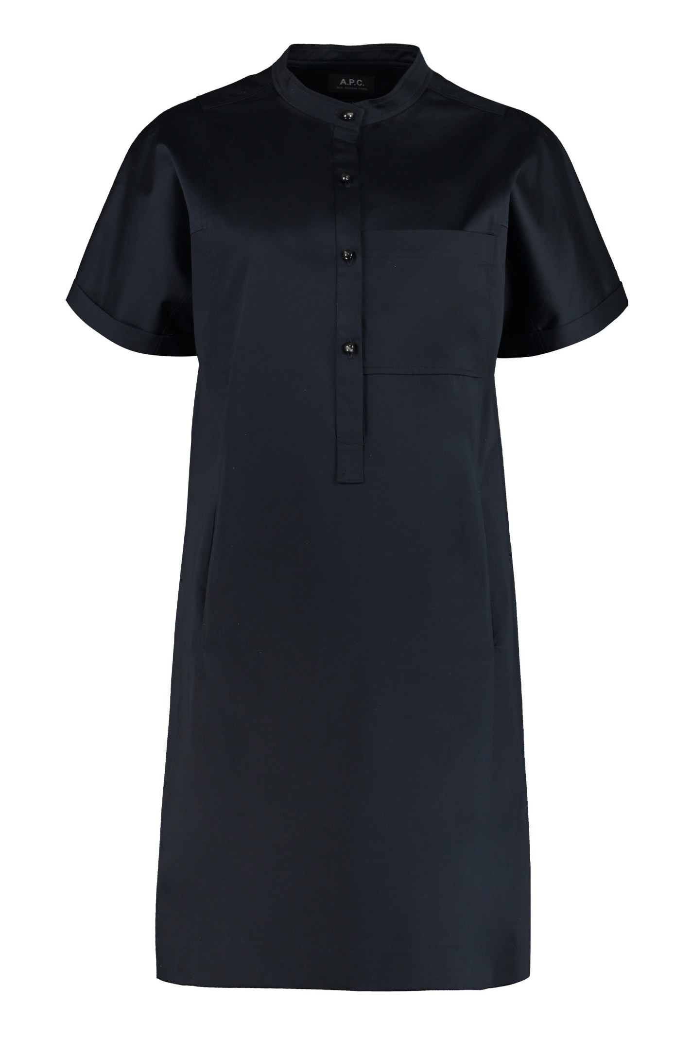 Buy A.P.C. Temple Poplin Mini Dress online, shop A.P.C. with free shipping