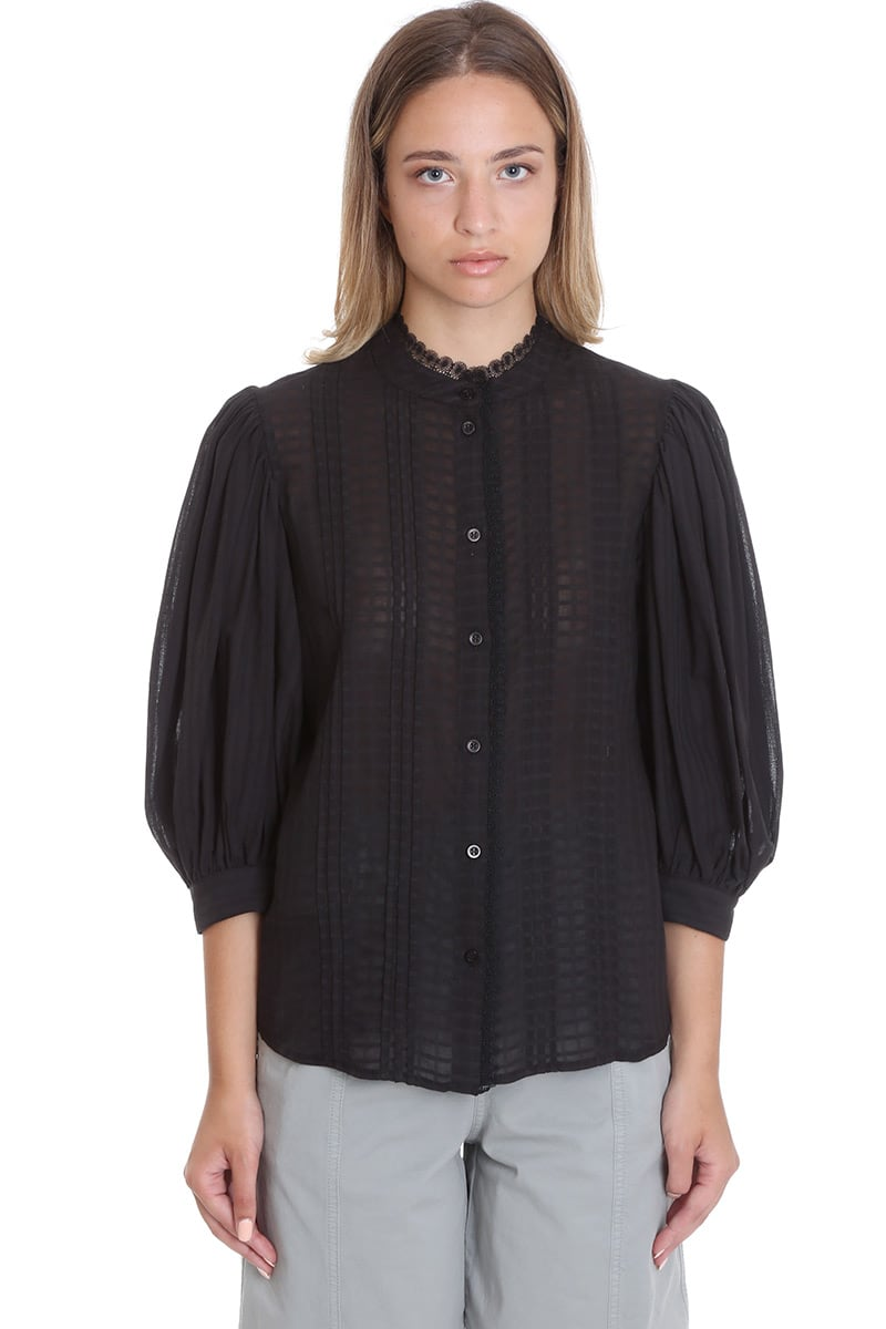 See By Chloé SHIRT IN BLACK COTTON