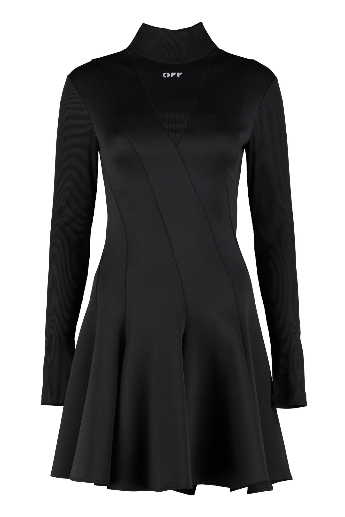 Off-White Technical Fabric Turtleneck Dress