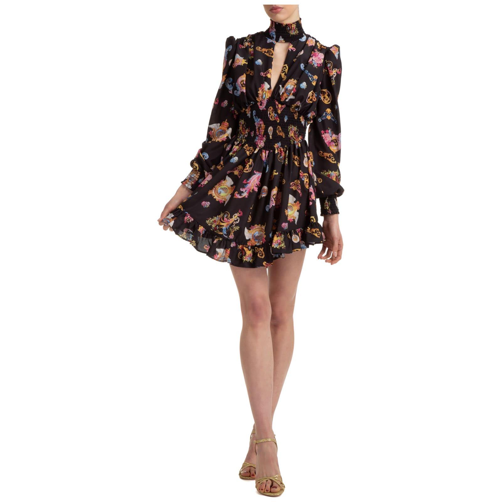 Buy Versace Jeans Couture Buffalo Mini Dress online, shop Versace Jeans Couture with free shipping