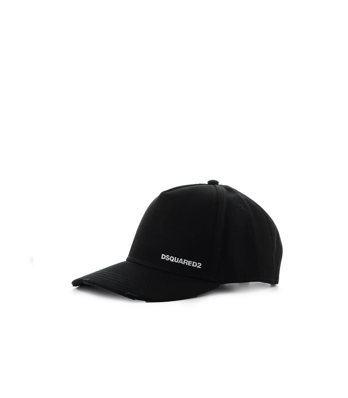 Dsquared2 Black Baseball Cap With Yellow Patch