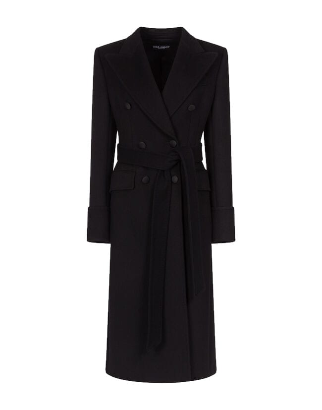 Dolce & Gabbana Dolce & gabbana Long Double-breasted Belted Coat