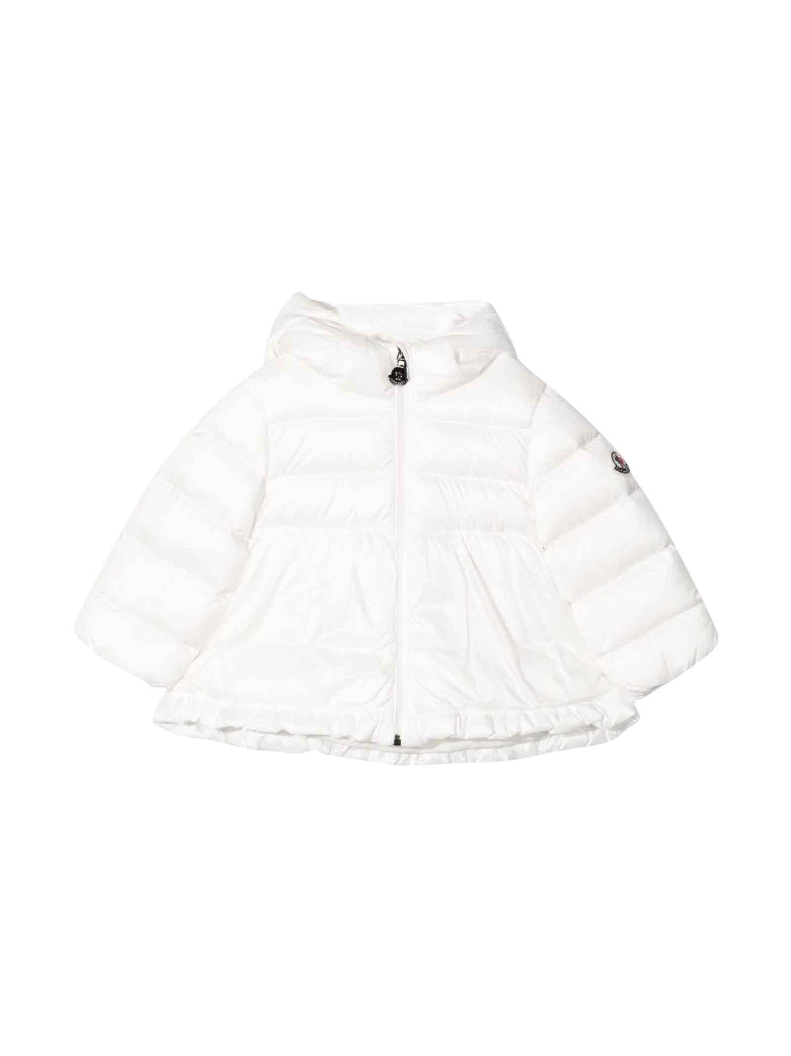 Moncler White Girl Down Jacket