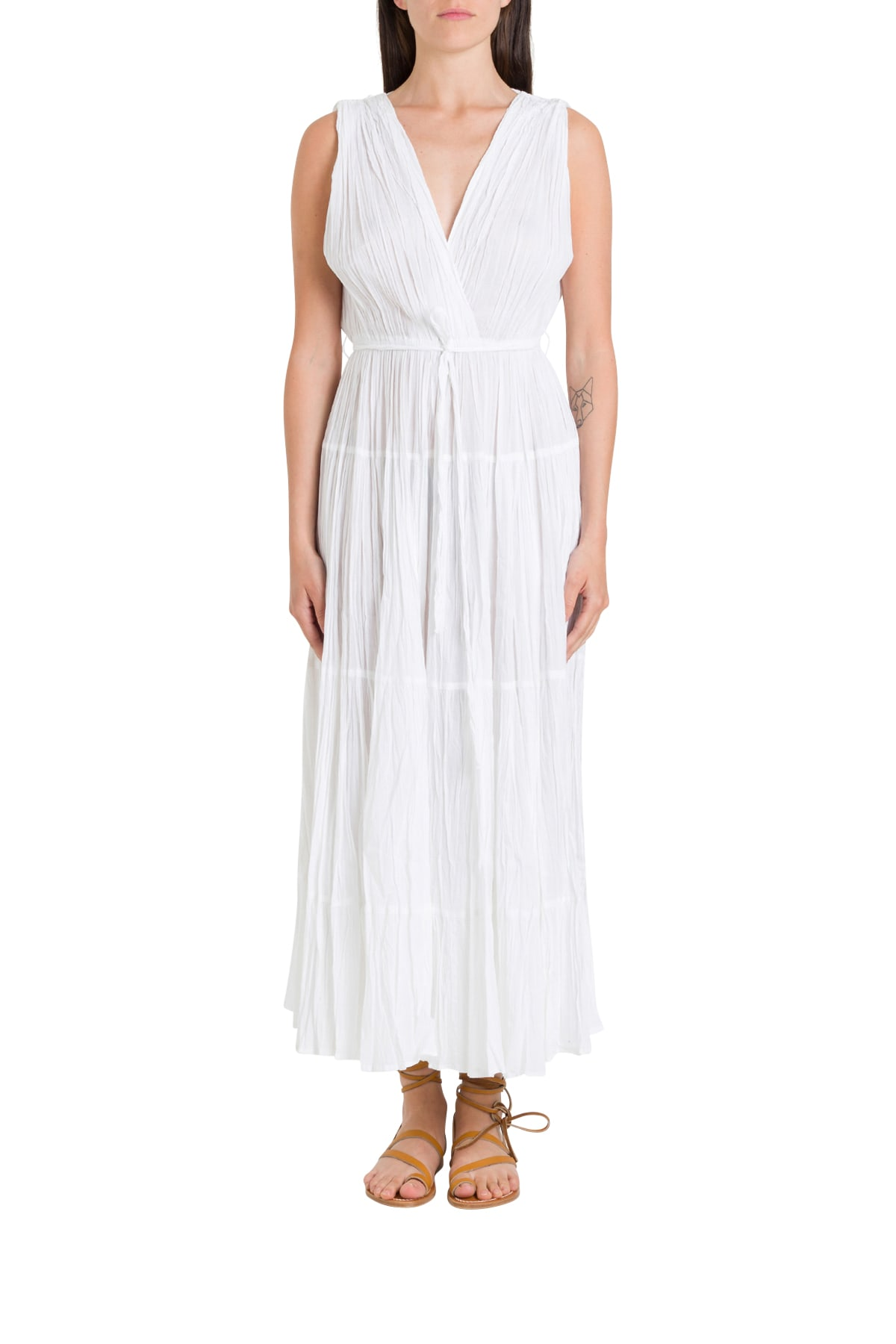 Buy Mes Demoiselles Pleated Cotton Dress online, shop Mes Demoiselles with free shipping