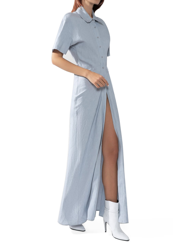 Off-White Long Maxi Shirt Dress