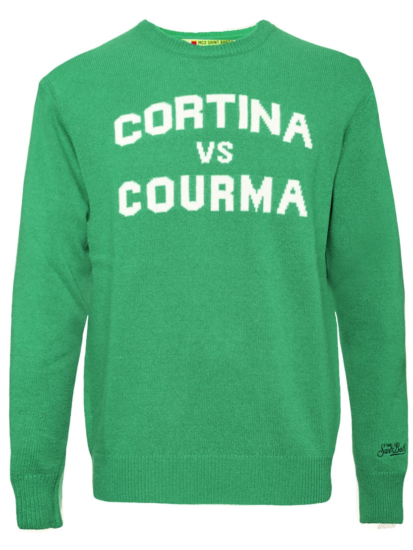 Cortina Vs Courma Green Mans Sweater