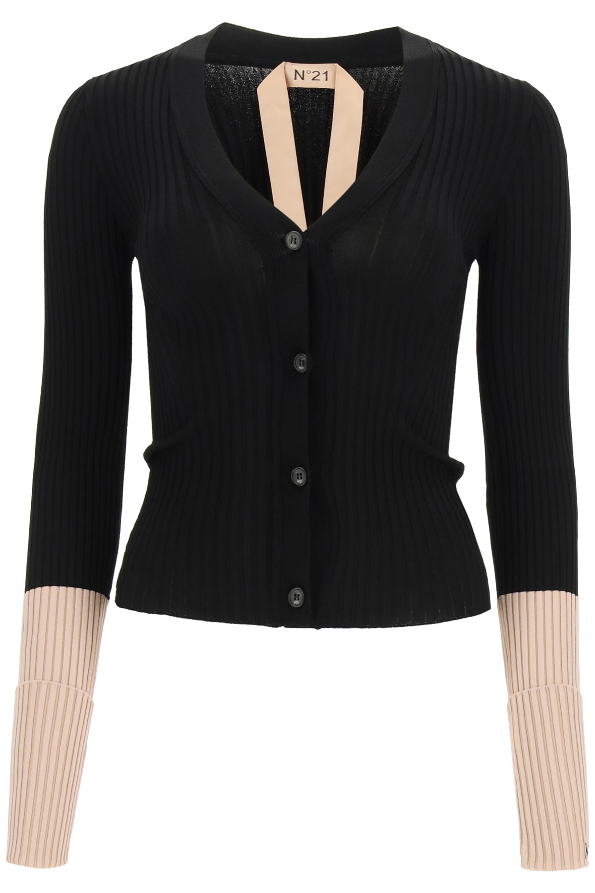 N°21 Clothing TWO-TONE CARDIGAN WITH LOGO