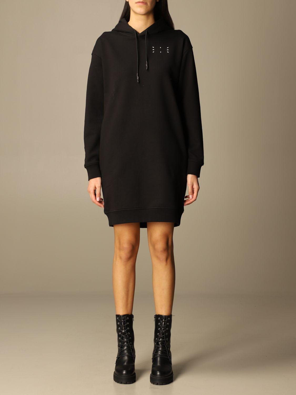 Mcq Dress Ic-0 By Mcq Sweatshirt Dress In Cotton With Logo