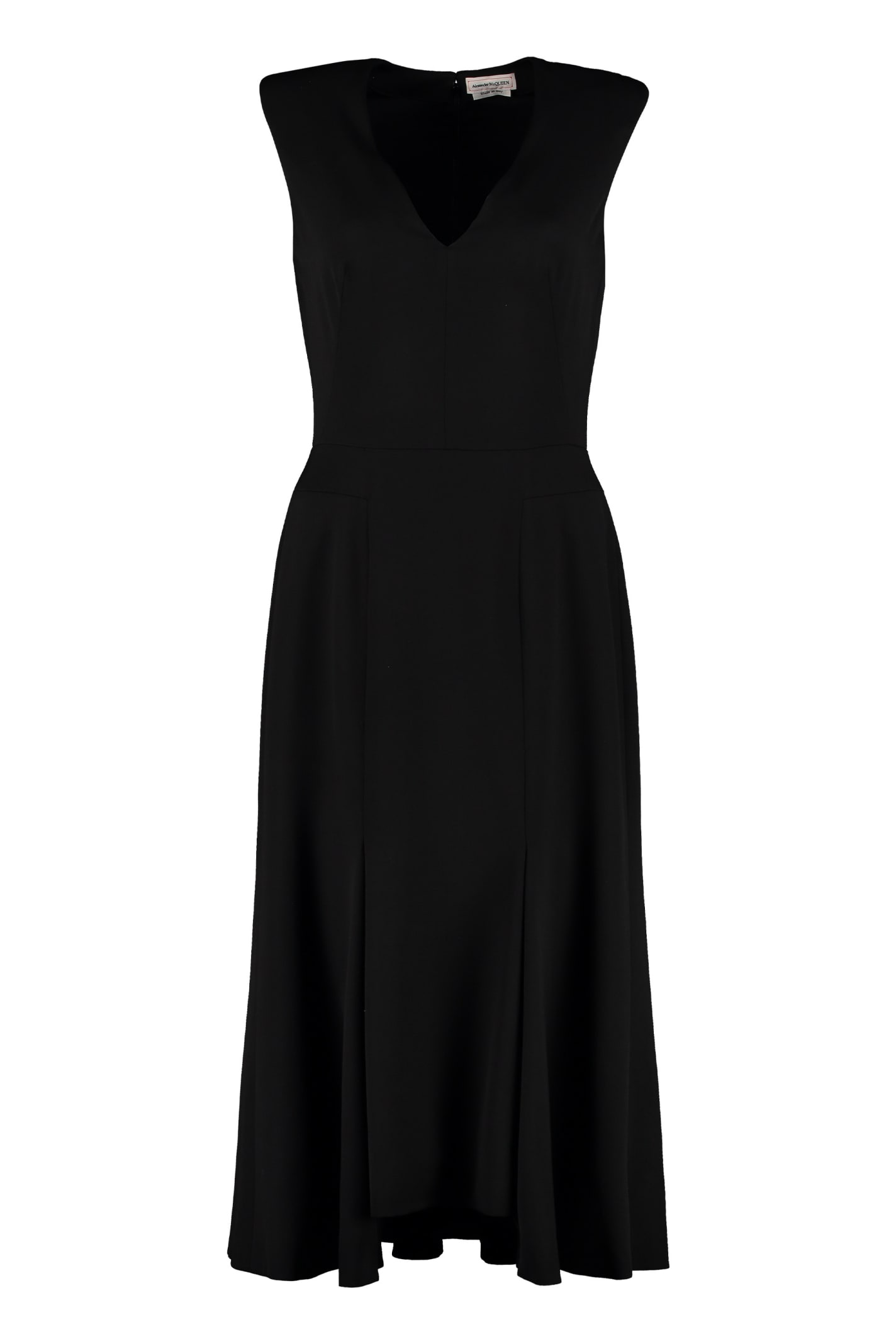 Alexander McQueen Virgin Wool Midi Dress