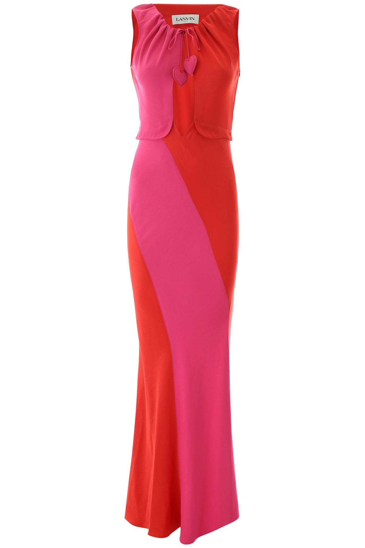 Buy Lanvin Two-coloured Maxi Dress online, shop Lanvin with free shipping
