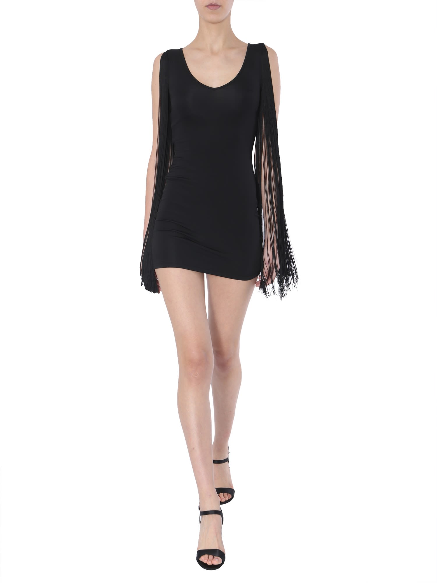 Moschino Short Dress With Fringes