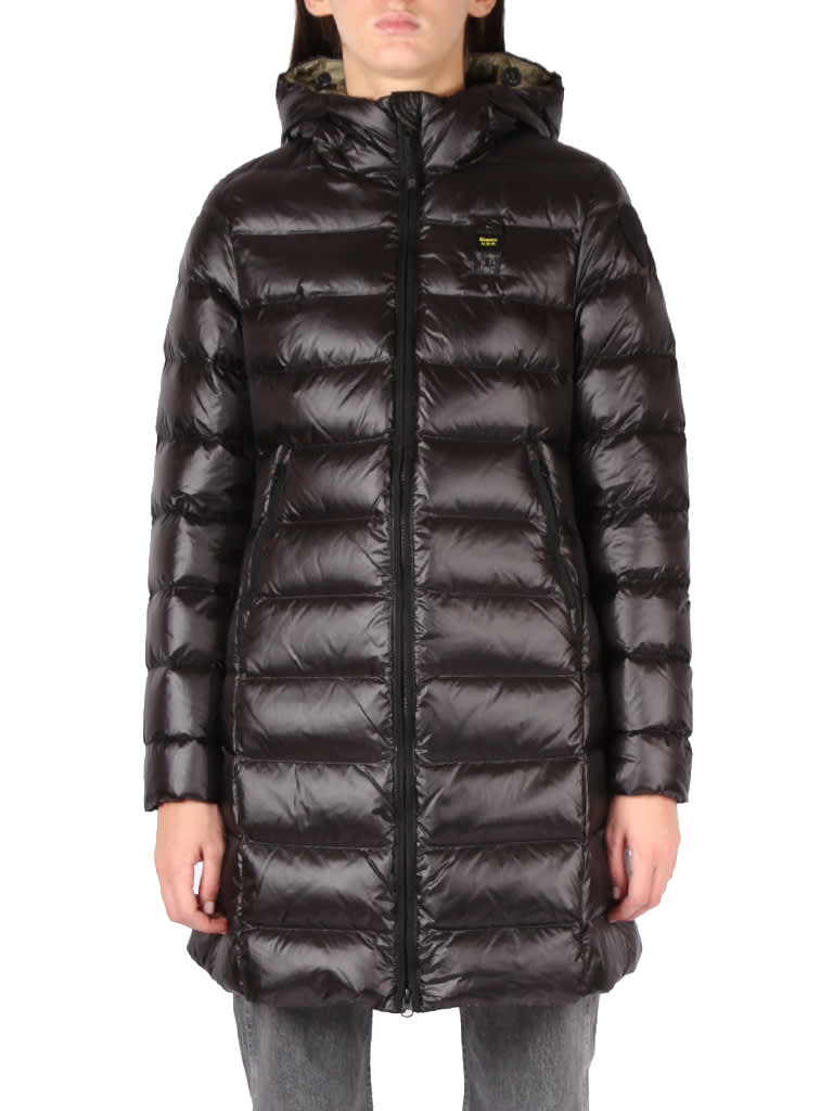 Long Down Jacket In Technical Fabric