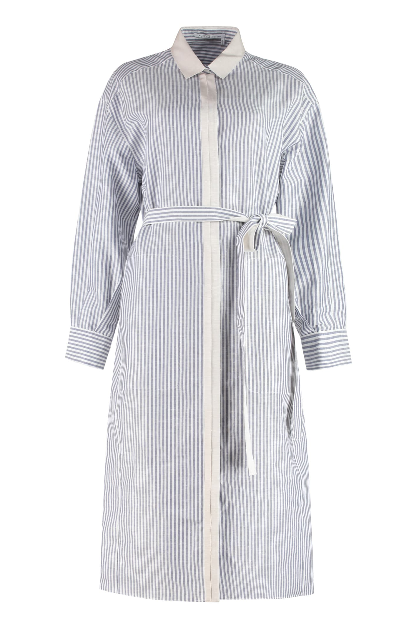 Buy Agnona Belted Shirtdress online, shop Agnona with free shipping