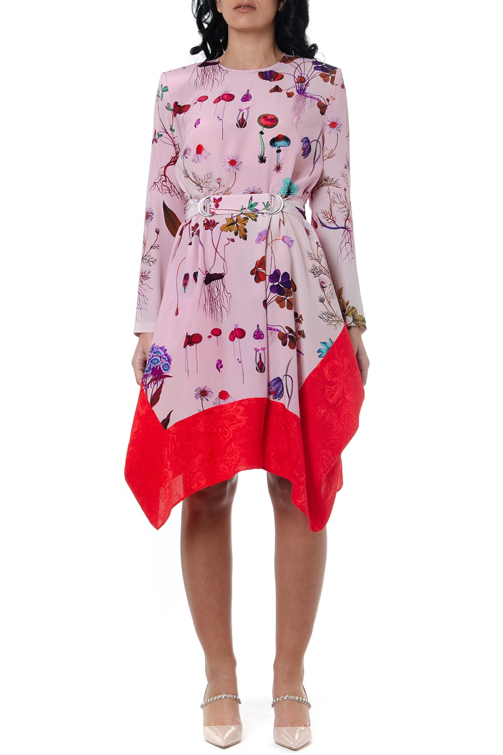 Buy Stella McCartney Kalyn Multicoloured Floral Print Silk Dress online, shop Stella McCartney with free shipping