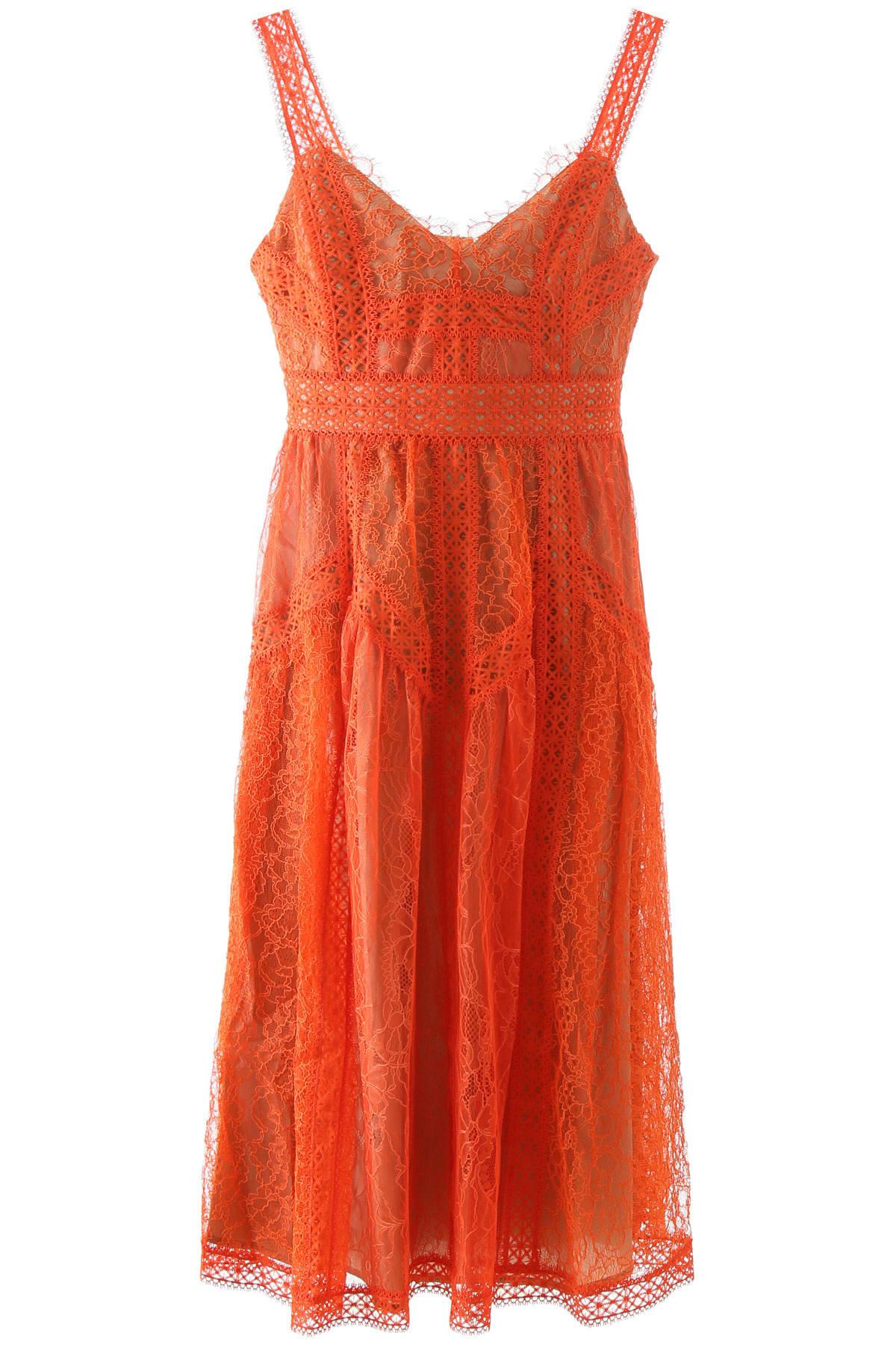 Buy self-portrait Midi Lace Dress online, shop self-portrait with free shipping
