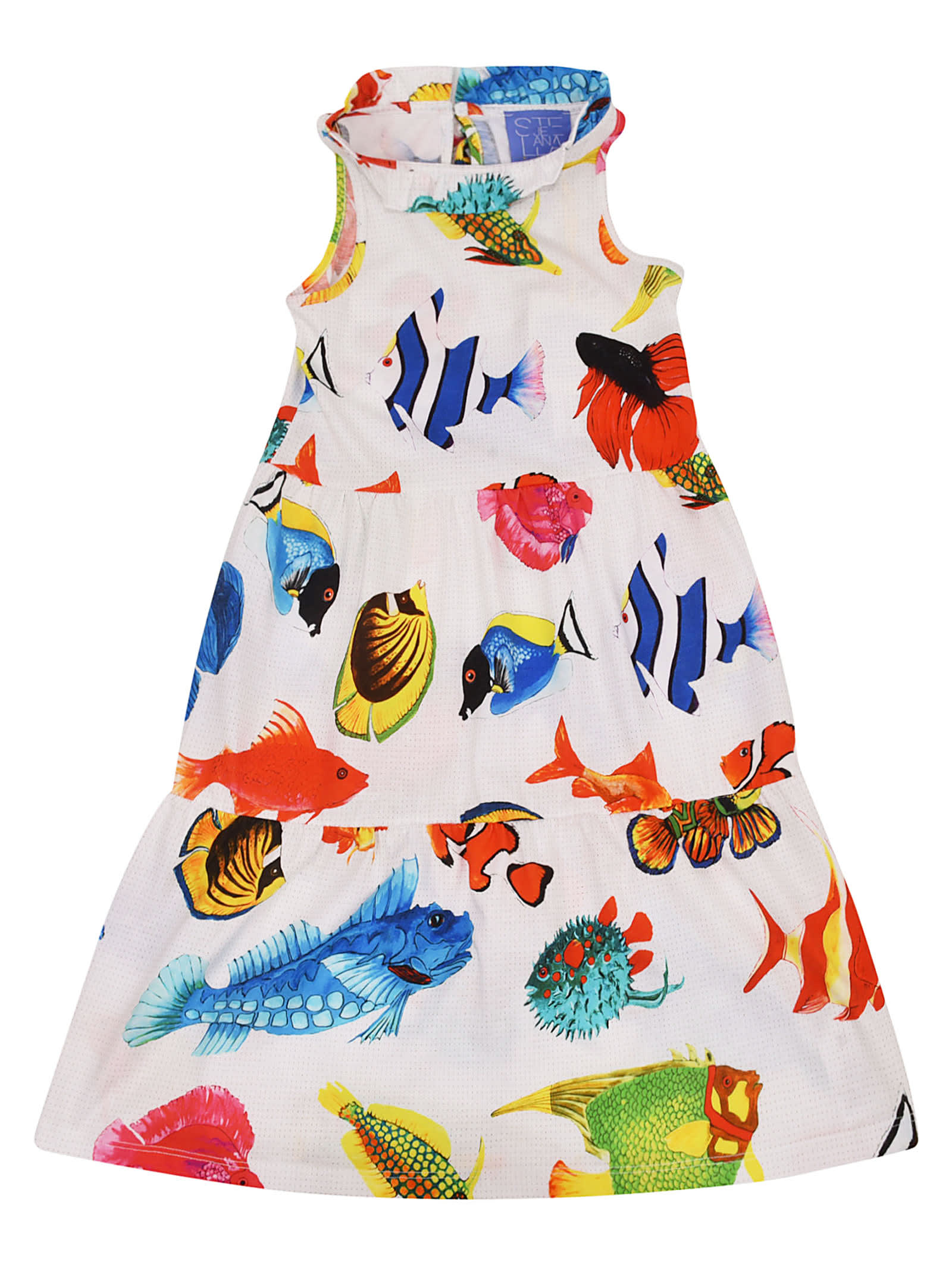 Photo of  Stella Jean Fish Print Dress- shop Stella Jean  online sales