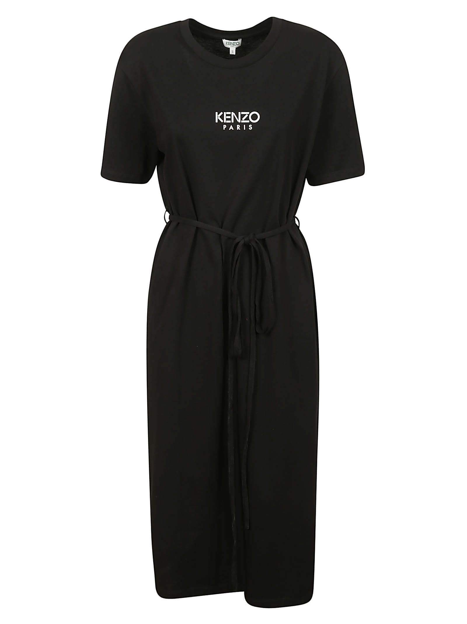 Buy Kenzo Belted T-shirt Dress online, shop Kenzo with free shipping
