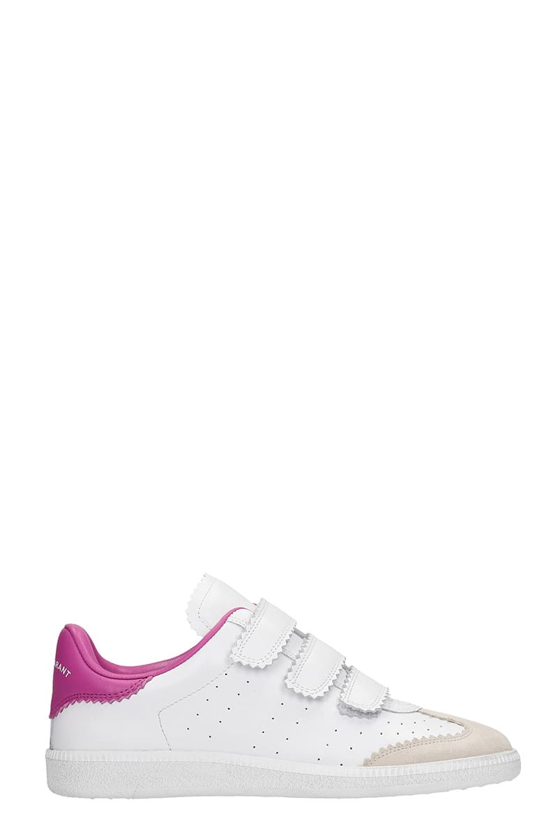 Isabel Marant Beth Sneakers In White Leather