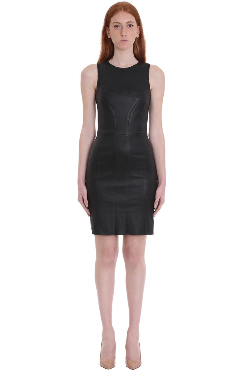 DROMe Dress In Black Leather