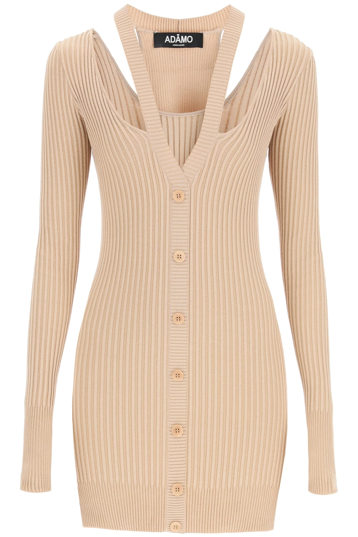 Knit Mini Dress With Cut-out