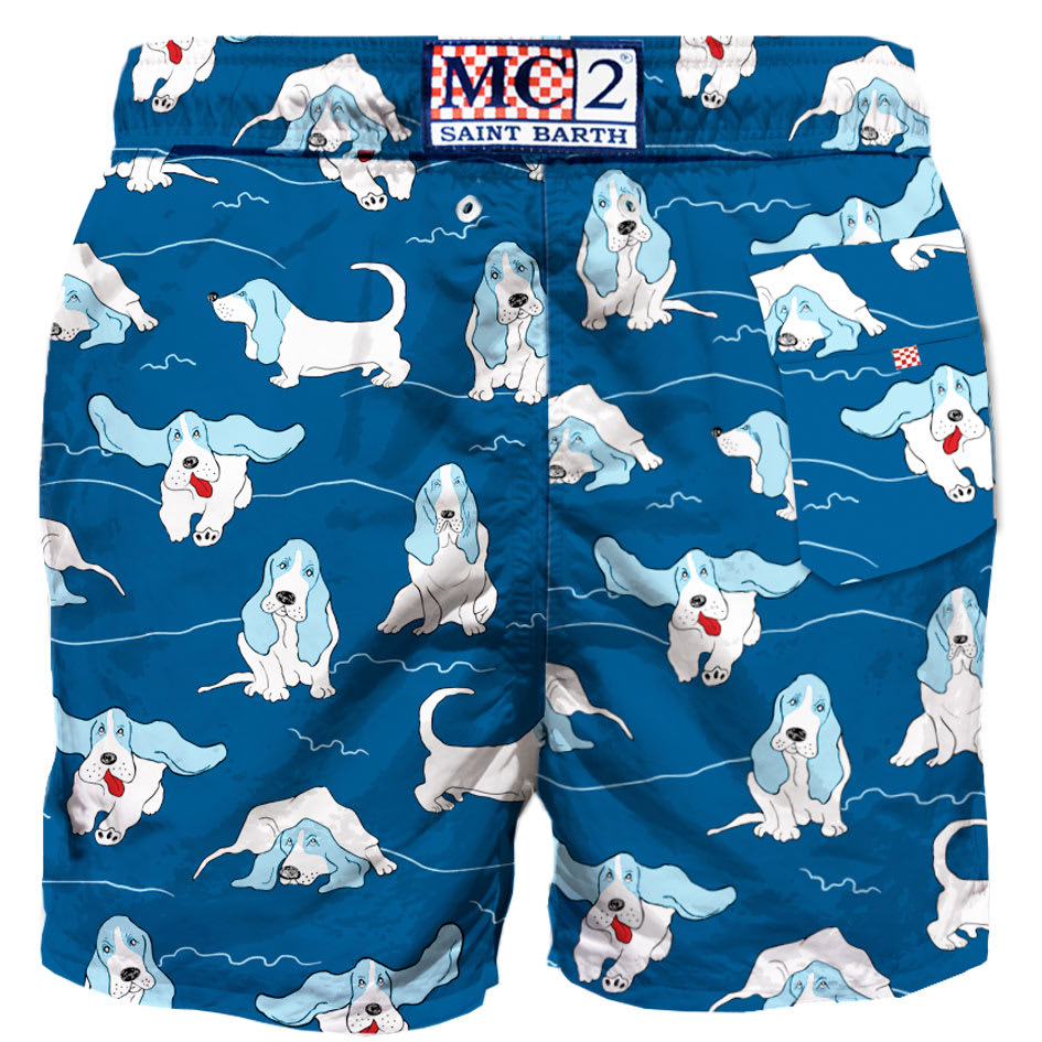 Buy Newest Basset Hound Man Swim Shorts - Top Quality