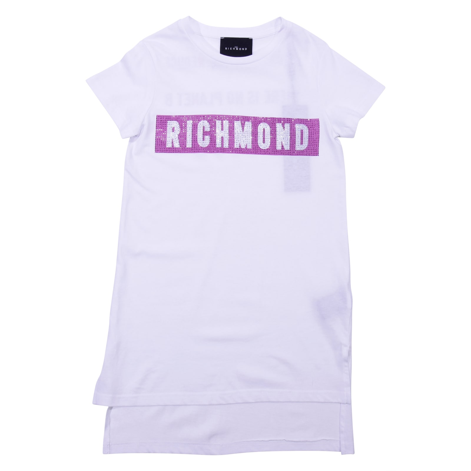 John Richmond White Cotton Jersey Dress