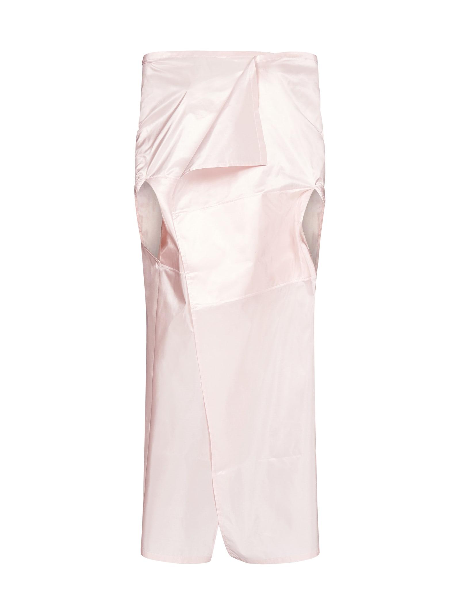 Prada Back Logo-patch Silk Satin Cape