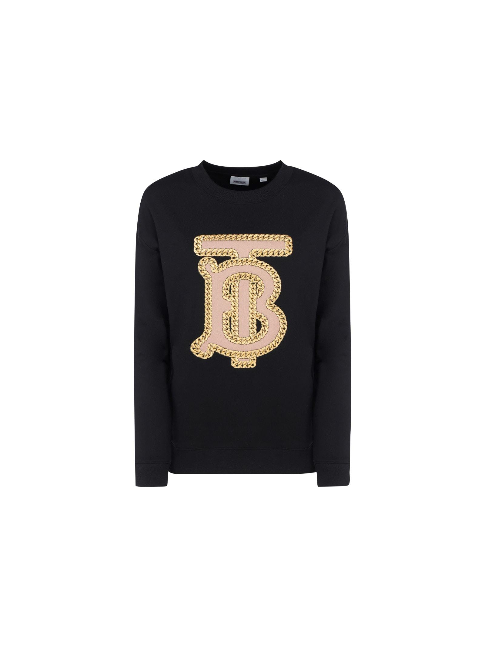 Burberry Kids' Sweatshirt In Black