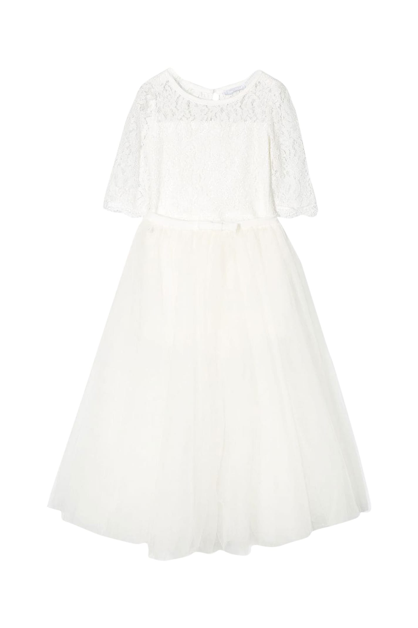 Buy Monnalisa Dress With Lace online, shop Monnalisa with free shipping