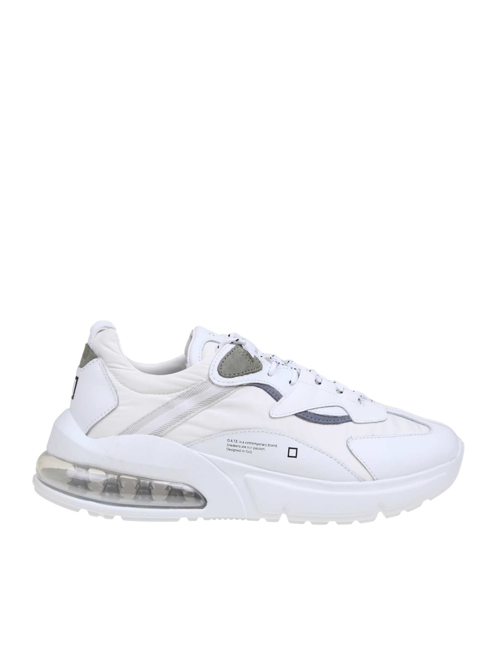 D.a.t.e.aura Honey Ripstop Sneakers In Technical Fabric Color White