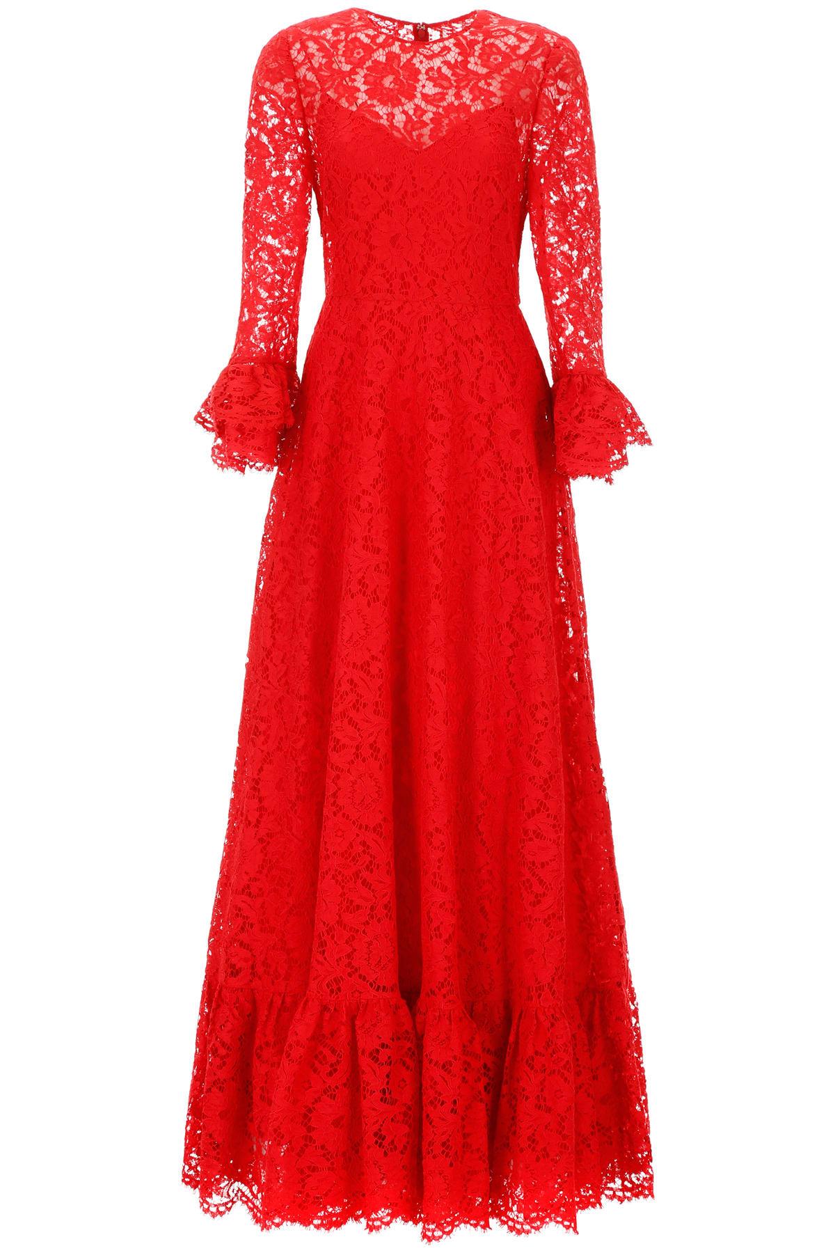 Valentino Long Lace Dress