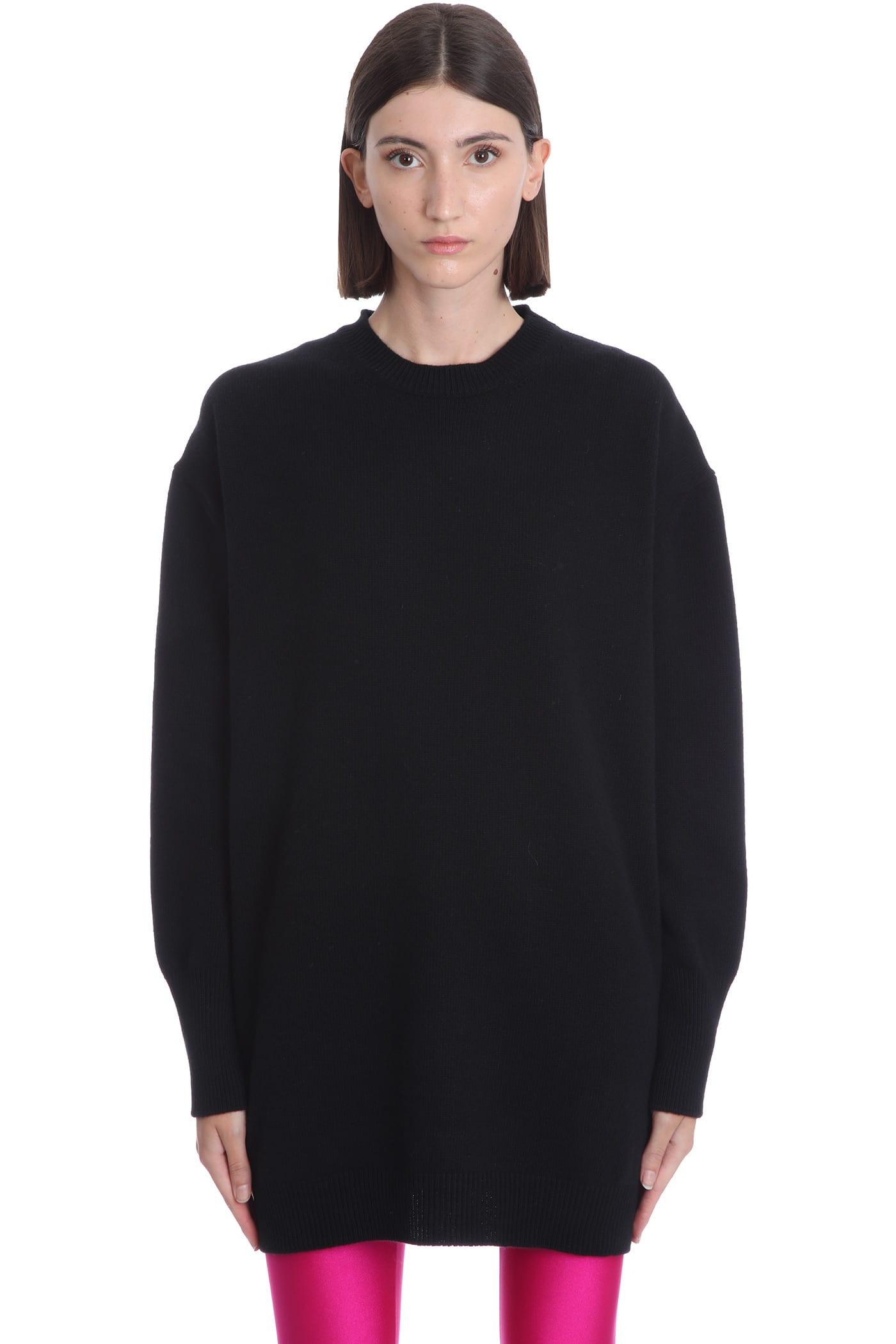 Heidi Knitwear In Black Wool