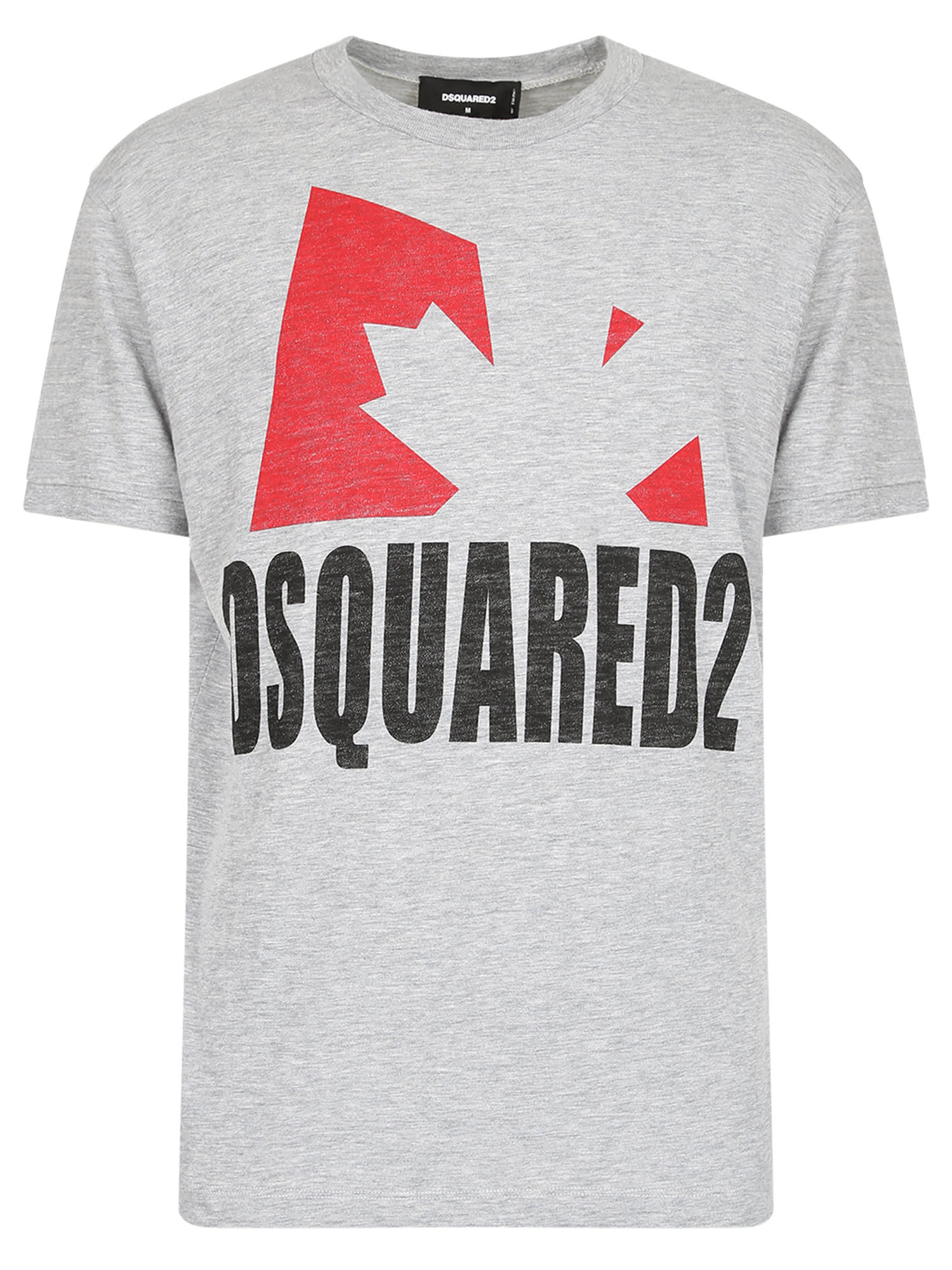 Dsquared2 Branded T-shirt In Grey