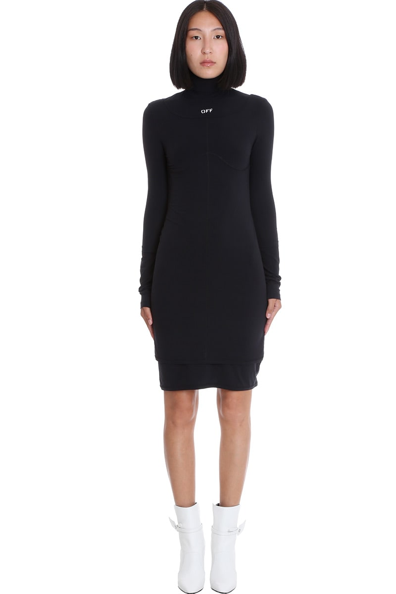 Off-White SECOND SKIN DRESS IN BLACK TECH/SYNTHETIC