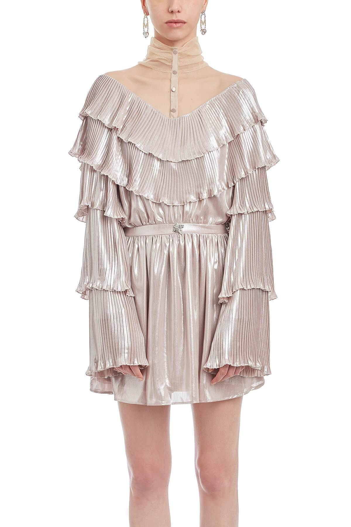 Buy Powder Pink Julia Lam?ini Dress online, shop Amotea with free shipping