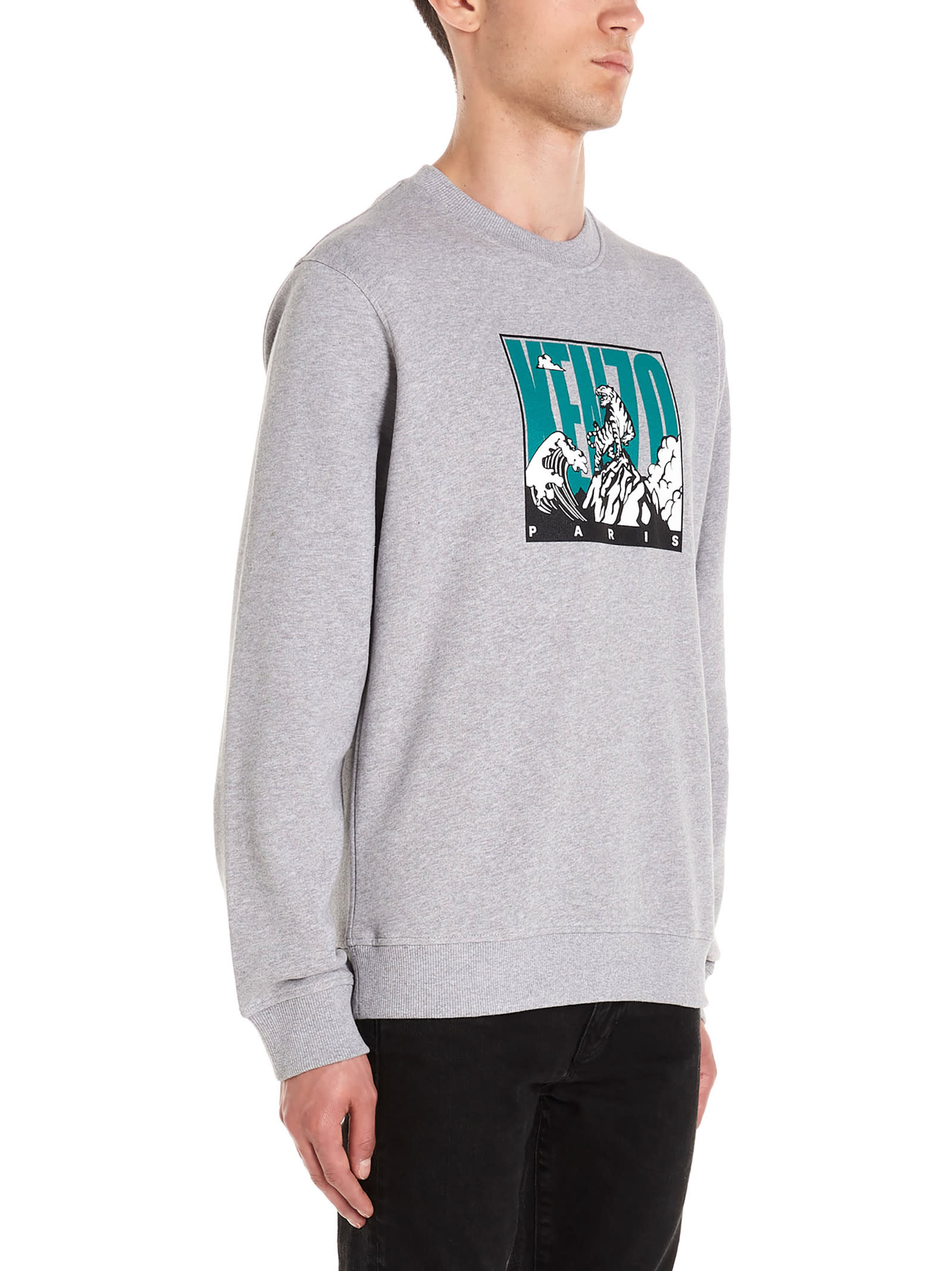 Kenzo Kenzo 'tiger Mountain' Sweatshirt Grey 10966748