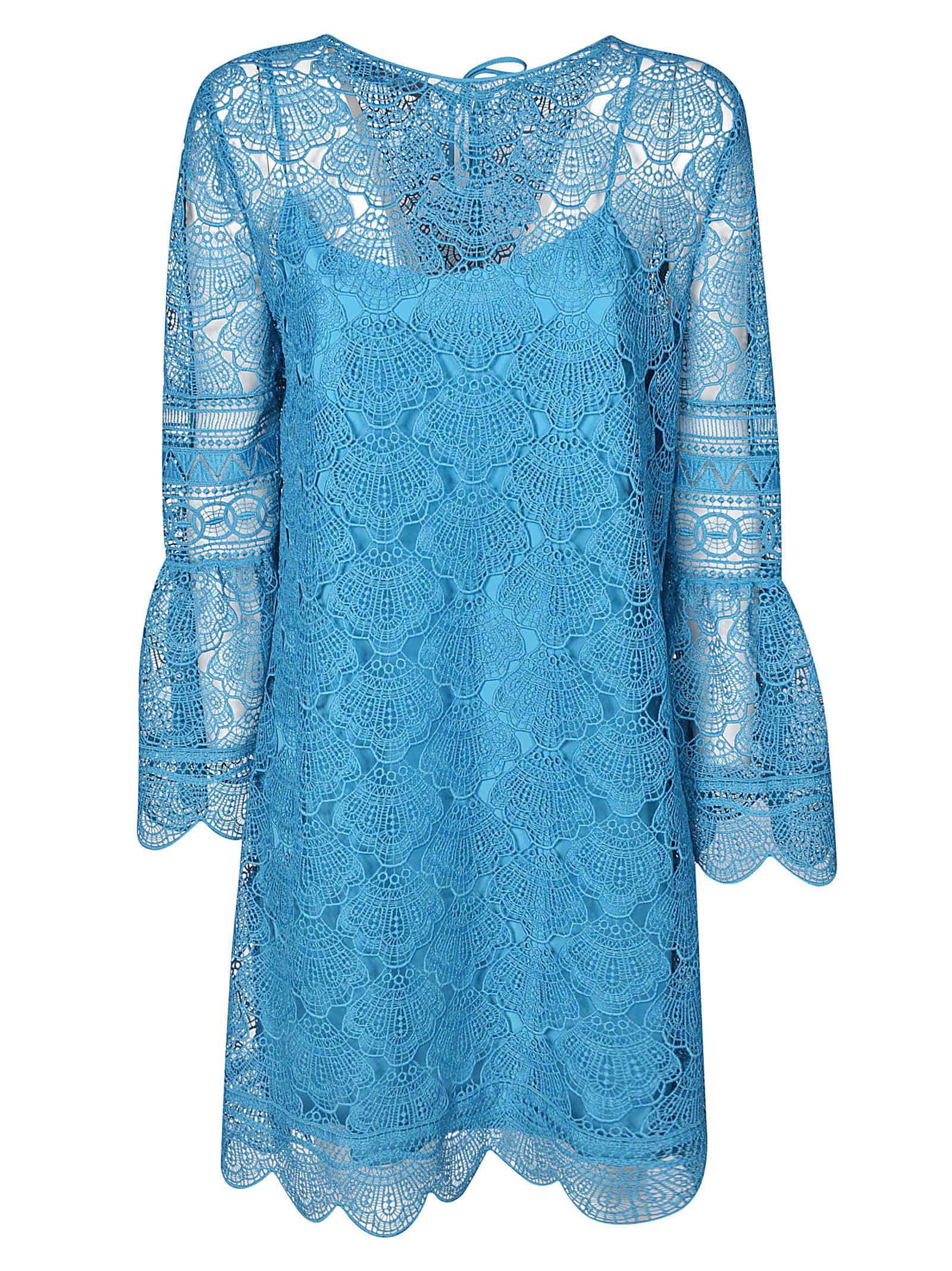 Buy Alberta Ferretti Laced Short Dress online, shop Alberta Ferretti with free shipping