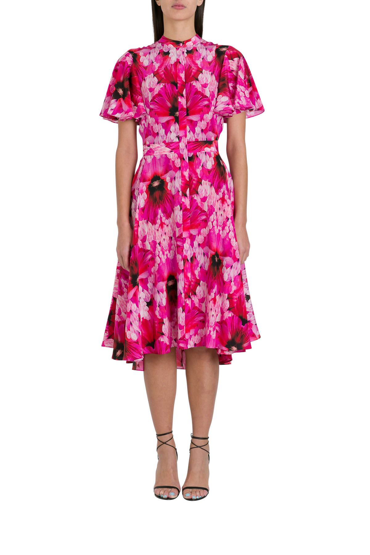 Buy Alexander McQueen Floral Cocktail Dress online, shop Alexander McQueen with free shipping