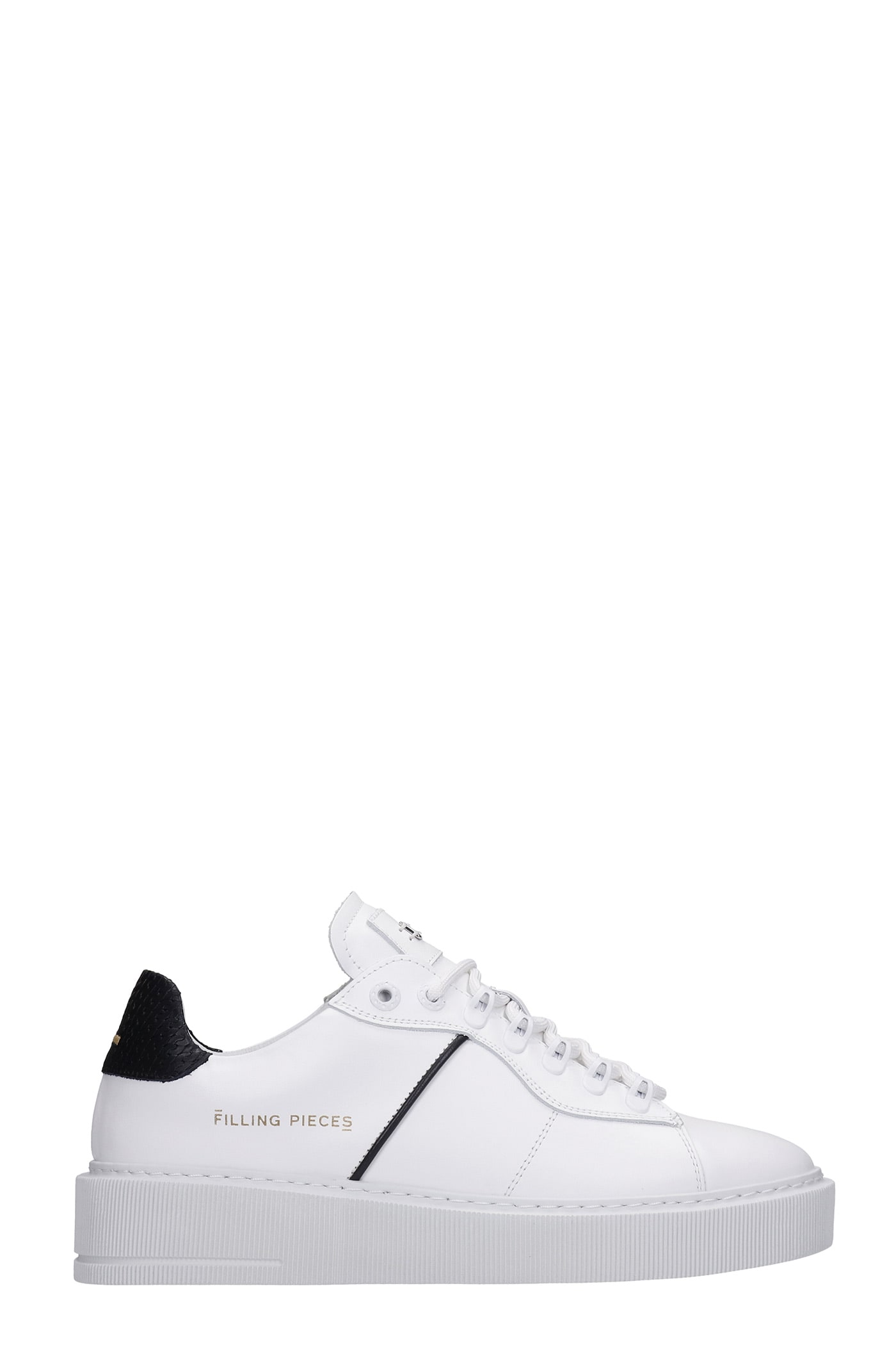 Court Gala Sneakers In White Leather