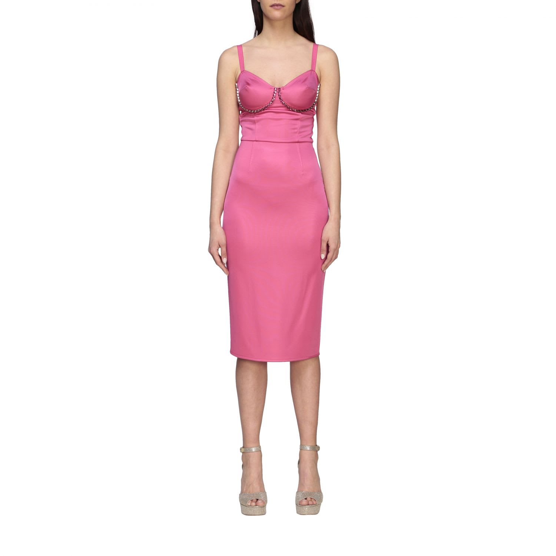 Buy Elisabetta Franchi Dress Elisabetta Franchi Sheath Dress With Rhinestones online, shop Elisabetta Franchi Celyn B. with free shipping