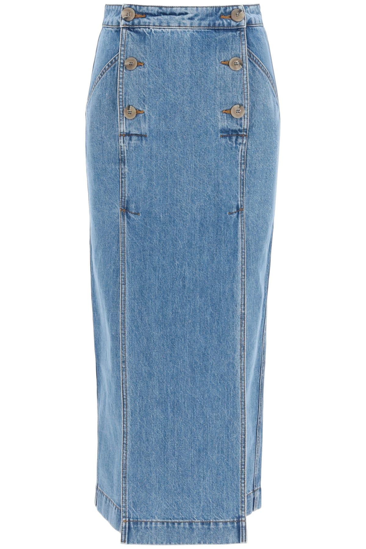 Nanushka Elke Midi Denim Skirt